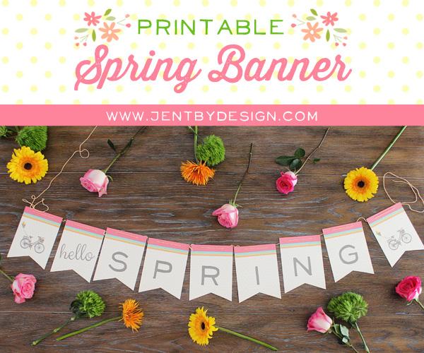 Printable Spring Banner - JenTbyDesign.com