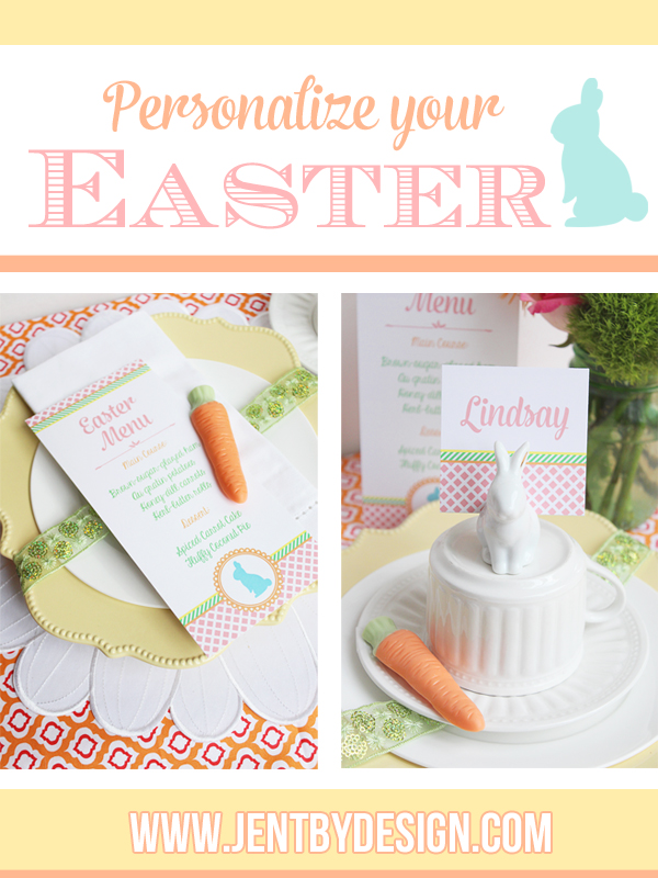 Personalized Easter Menus and Place Cards