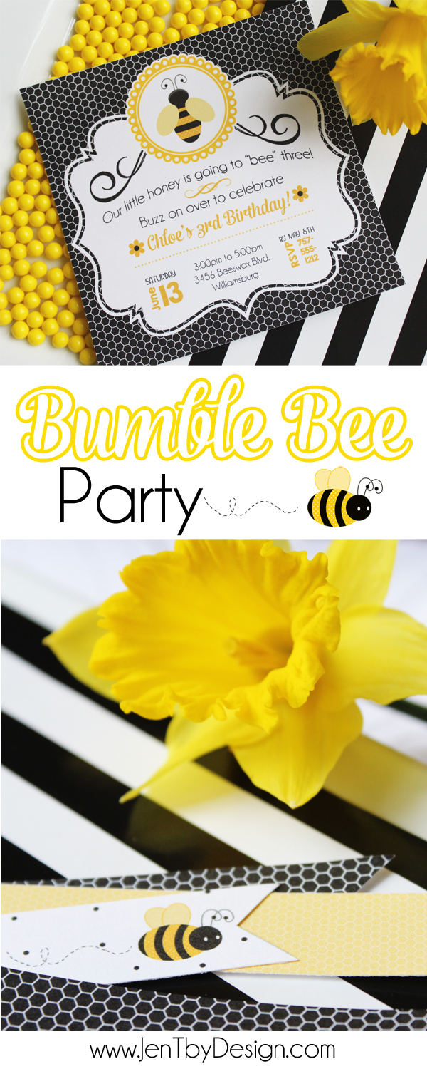Bumble Bee Party - JenTbyDesign.com