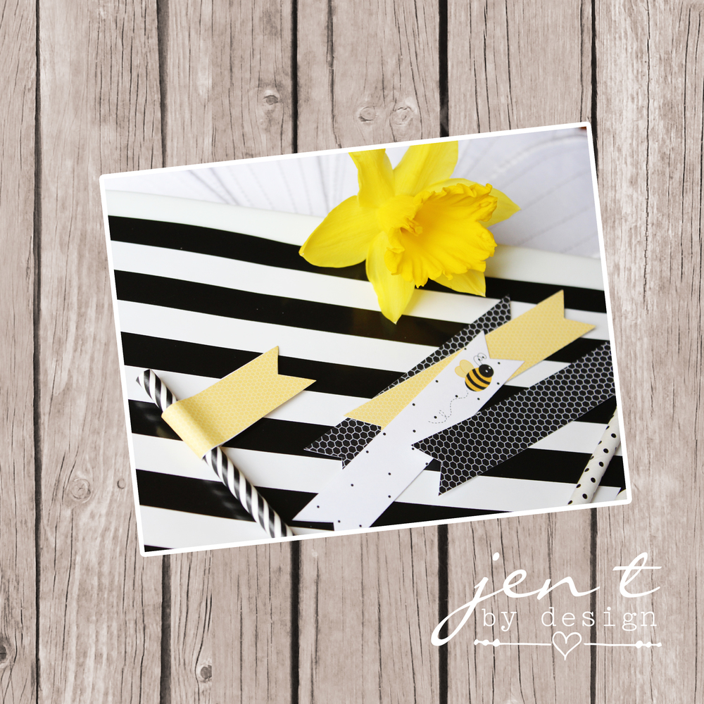 Bumble Bee Party Flags