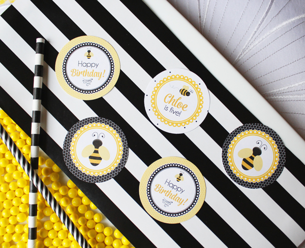 Bumble Bee Party Toppers