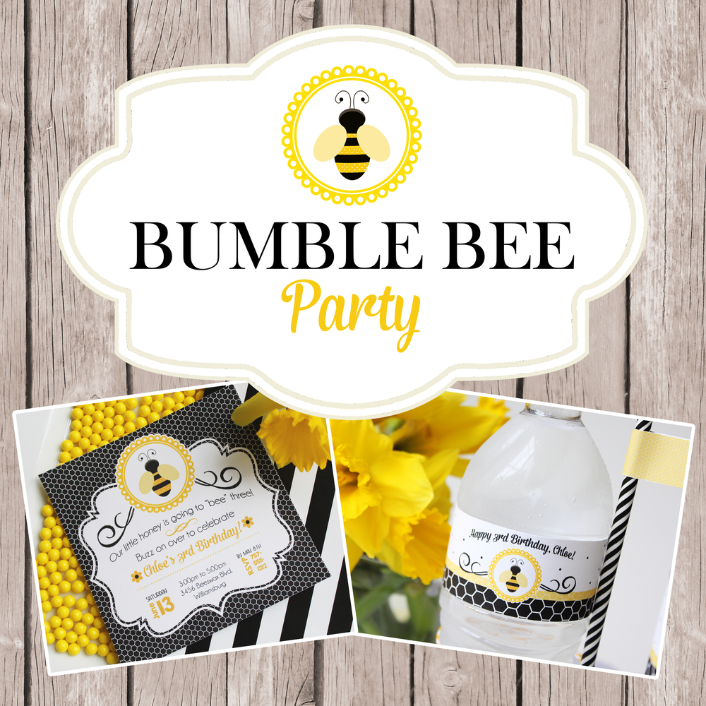 Bumble Bee Party Printables & Inspiration — Jen T. by Design