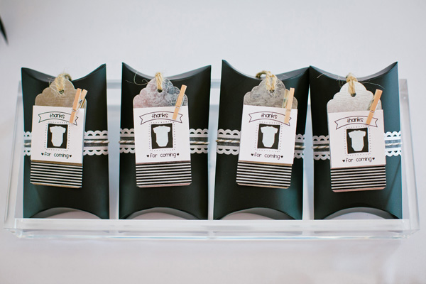 stylish baby shower favors