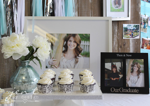 Graduation Party Decoration Ideas - Graduation Cupcakes JenTbyDesign.com