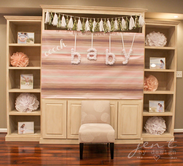 Pink and Gold Sparkle Baby Shower