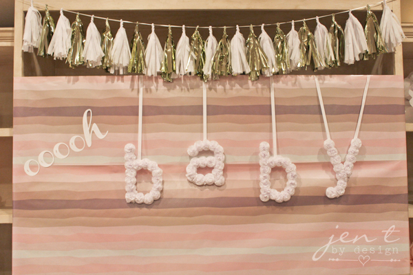 Pink Gold Sparkle Baby Shower Jen T by Design