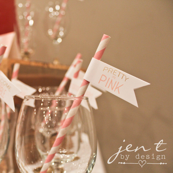 Pretty in Pink Straw Flags