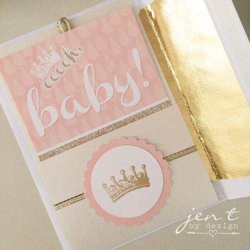 Glitter Baby Shower Invitations Jen T By Design