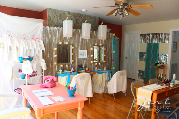 Salon birthday party part 1 the decor jen t by design - Decoration mural salon ...