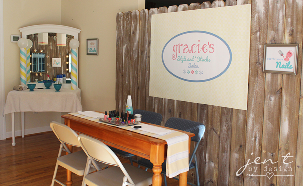 Salon Birthday Party Ideas - Nail Painting Station