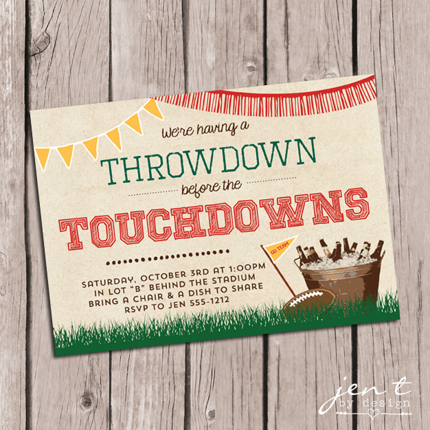 Tailgate Party Invitations Jen T by Design
