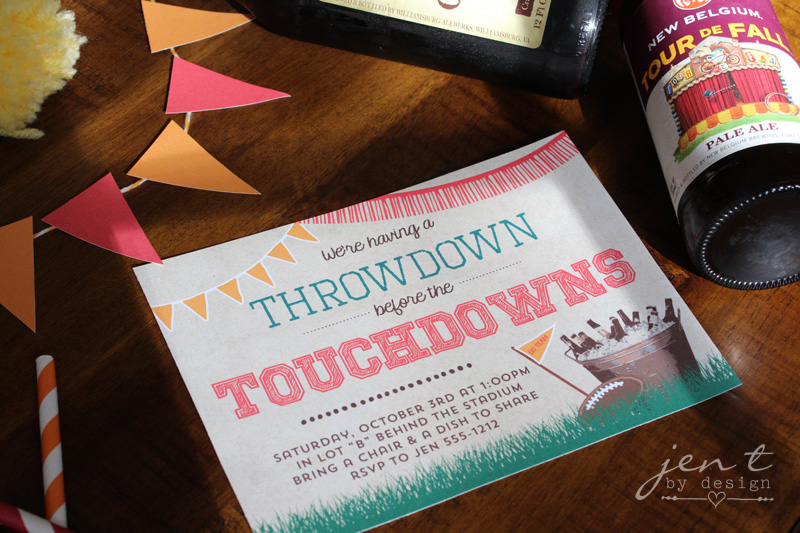 Football Tailgate Party Invitations