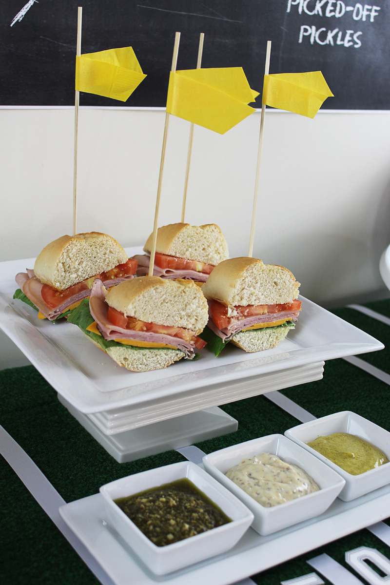 Football Tailgate Ideas - Yellow Napkin Penalty Flags