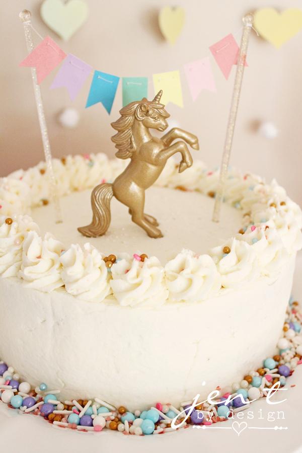 Pastel Rainbow Cake Topper Banner Jen T by Design