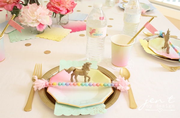 Unicorn Birthday Party Printable Collection (Includes custom ...