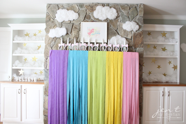 Unicorn Birthday Party Ideas - Rainbow Party Decor - JenTbyDesign.com