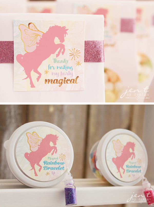 Unicorn Birthday Party Ideas - Unicorn Party Favors - JenTbyDesign.com