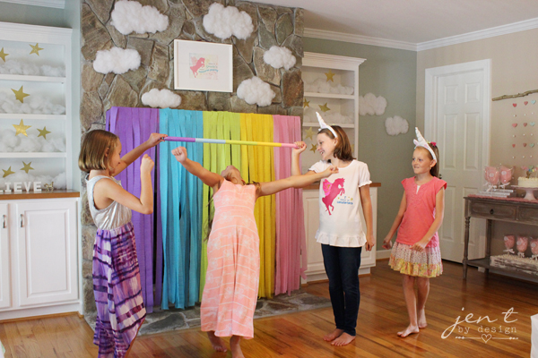 Unicorn Birthday Party Ideas - Rainbow Limbo - JenTbyDesign.com