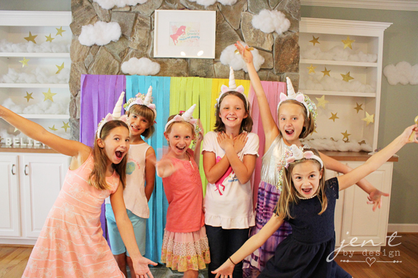 Unicorn Birthday Party Ideas - Photo Booth - JenTbyDesign.com