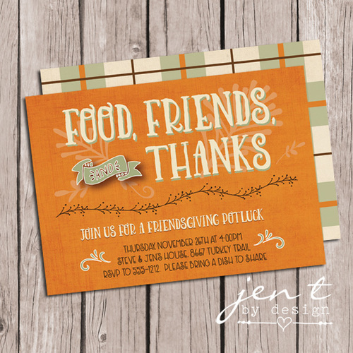 friendsgiving invitations jen t by design