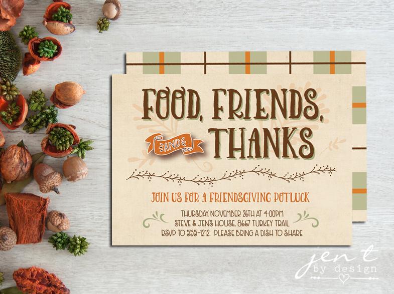 Friendsgiving Invitations Jen T By Design