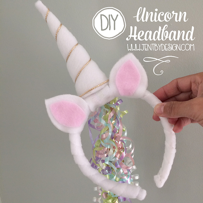 Diy Unicorn Headband Tutorial Jen T By Design