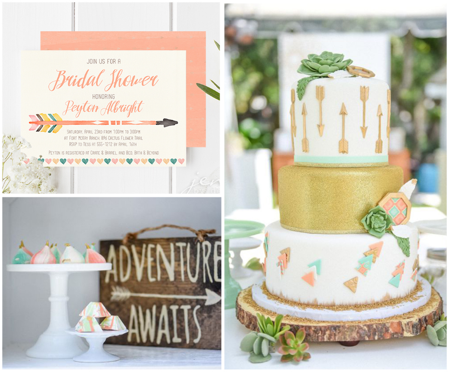 Boho Chic Bridal Shower Ideas
