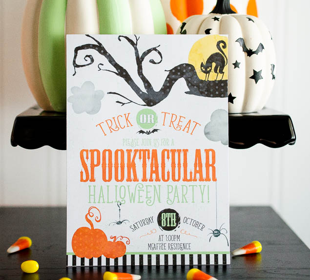Spooktacular Halloween Party Invitations