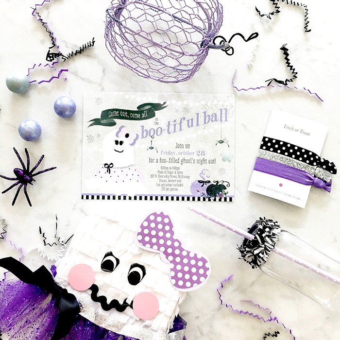 Boo-tiful Ball:  Girls Halloween Party Invitations
