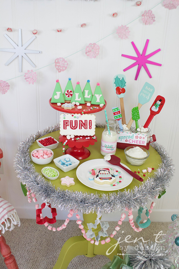 Holly Jolly Cookie Decorating Party for Kids - Jen T by Design