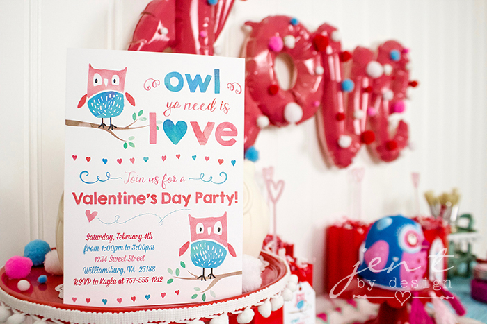 Valentine's Day Party Idea - Owl Ya Need is Love - 3