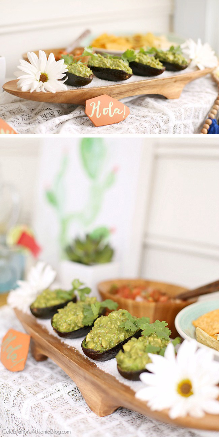 Avacado Guacamole Bowls - Celebrations at Home