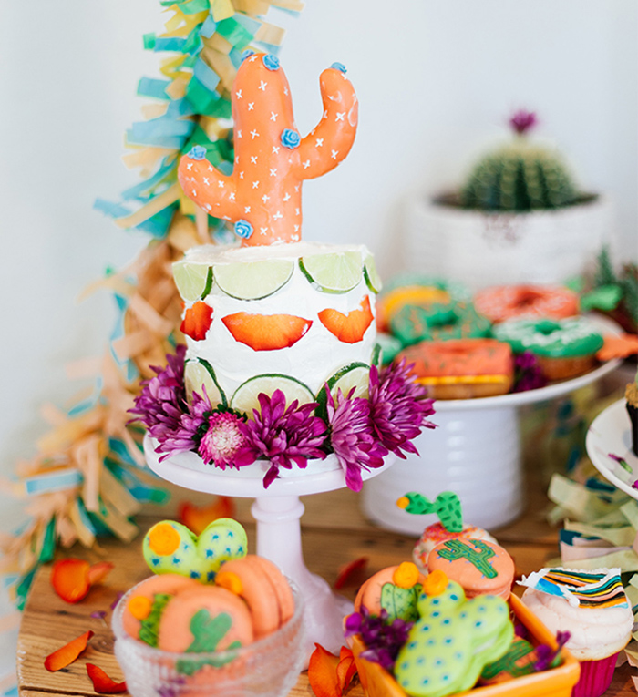 Cinco de Mayo Fiesta - Cactus Cake - Inspired by This