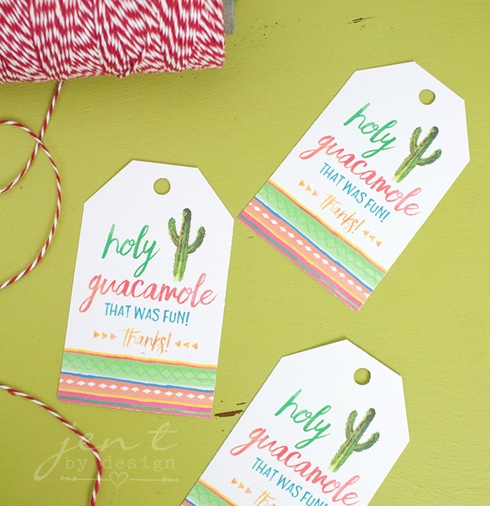 Cinco de Mayo Fiesta Favor Tags - Jen T by Design