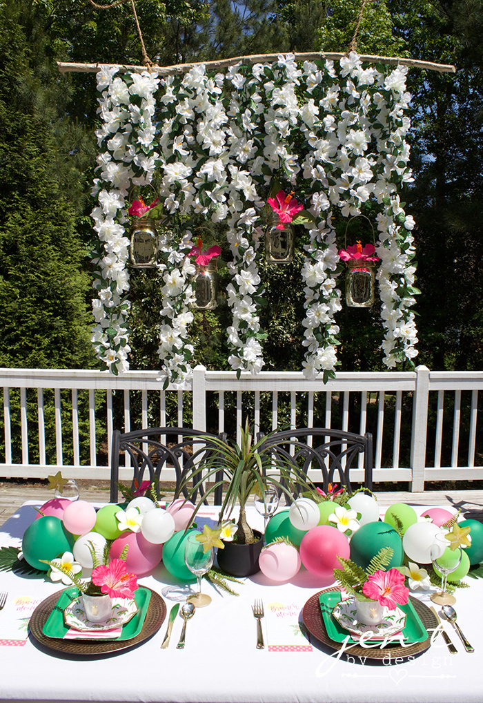 tropical bridal shower ideas palm trees and paradise brunch