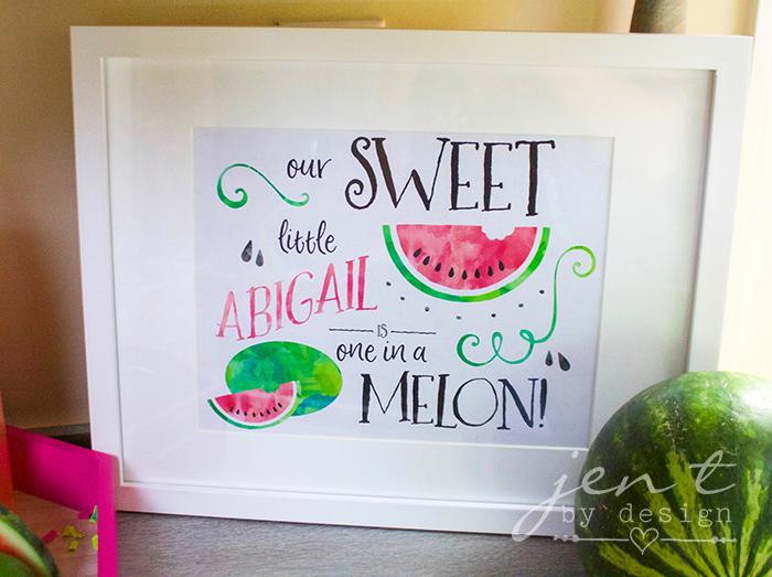 Watermelon First Birthday Party with Cricut - Watermelon Party Decor - JenTbyDesign.com