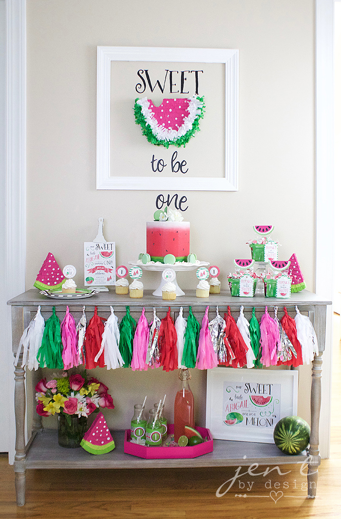 Watermelon First Birthday Party - Jen T by Design