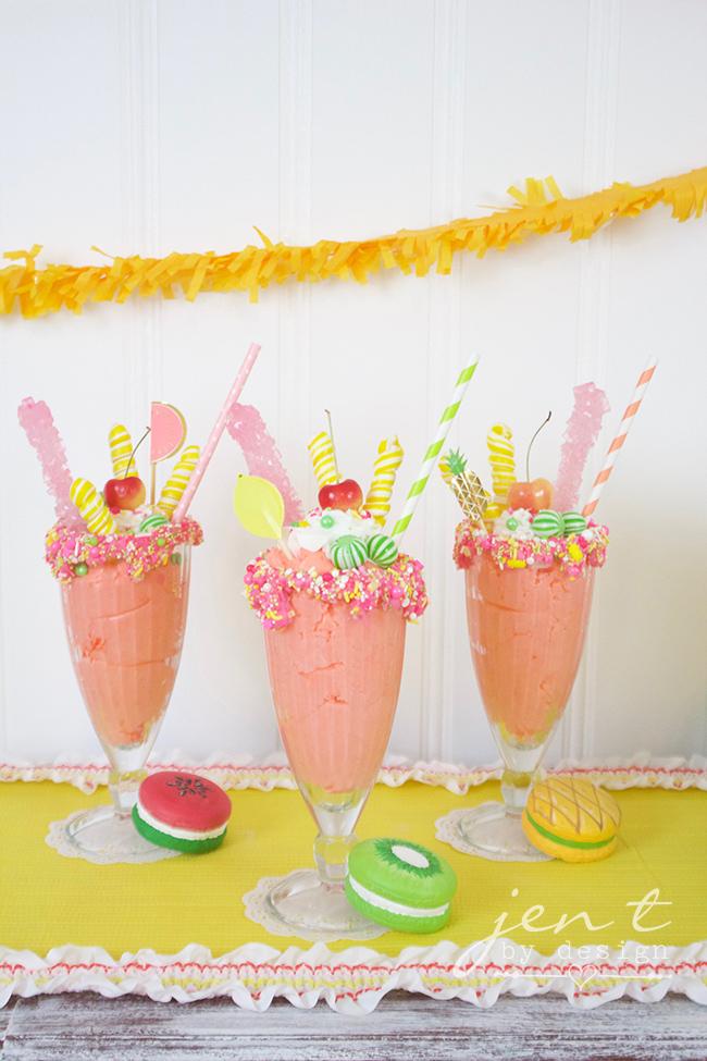 Tutti Frutti Party Ideas - Fruity Freak Shakes - JenTbyDesign.com