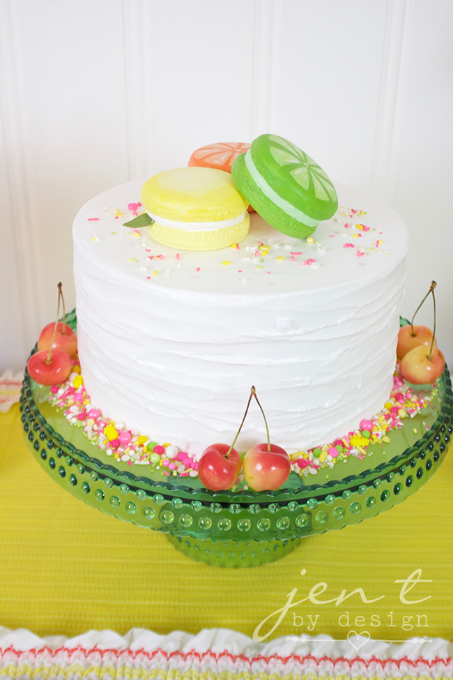 Tutti Frutti Party - Tutti Frutti Cake - JenTbyDesign.com