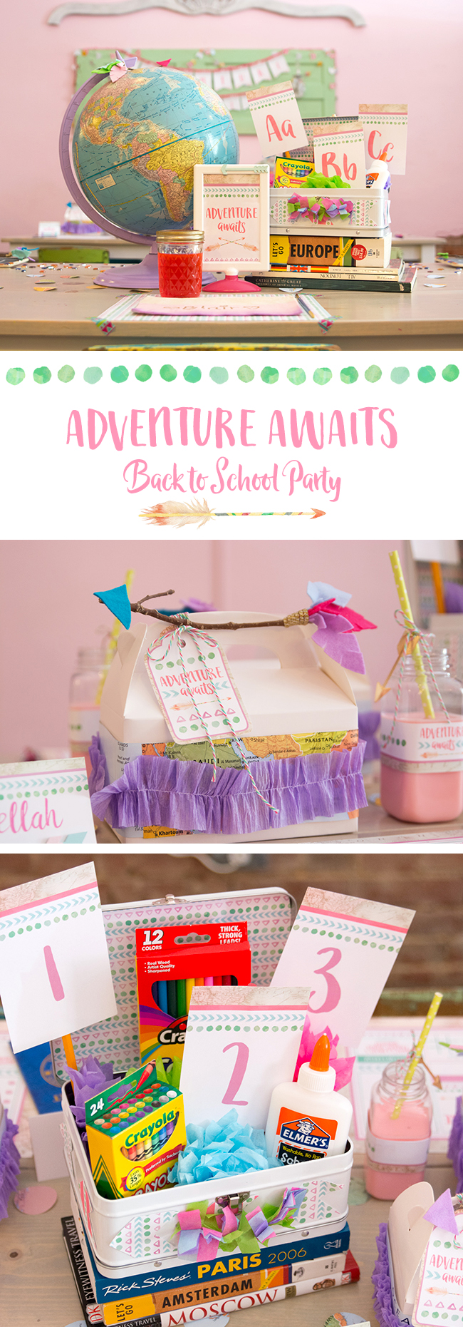 Adventure Awaits Back to School Party - Made of Sugar & Spice / Jen T by Design