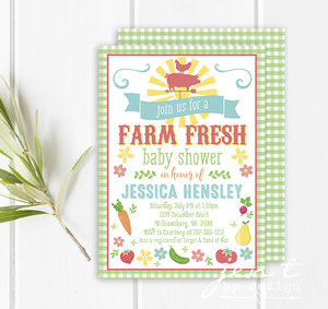 Baby shower invitations jen t by design farmers market baby shower invitations filmwisefo