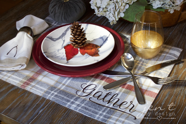 DIY Thanksgiving Place Setting with Cricut EasyPress