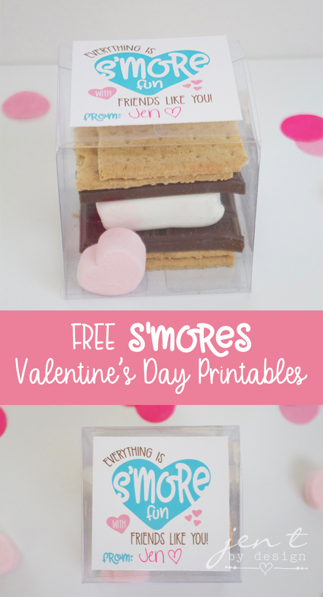 Free Valentine's Day Printables | S'mores Valentines - Jen T by Design
