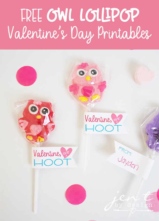 FREE Valentine's Day Printables | Owl Valentines - Jen T by Design.com