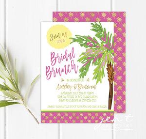 Bridal shower invitations jen t by design tropical bridal shower invitations filmwisefo Image collections