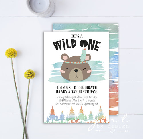 Wild one birthday invitation boy jen t by design wild one birthday invitation boy filmwisefo