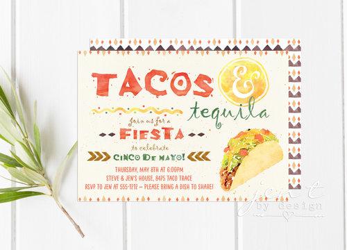 taco and tequila invitations cinco de mayo invitations fiesta