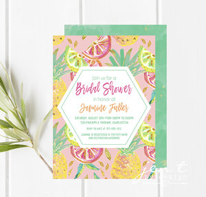 Bridal shower invitations jen t by design tropical bridal shower invitation filmwisefo