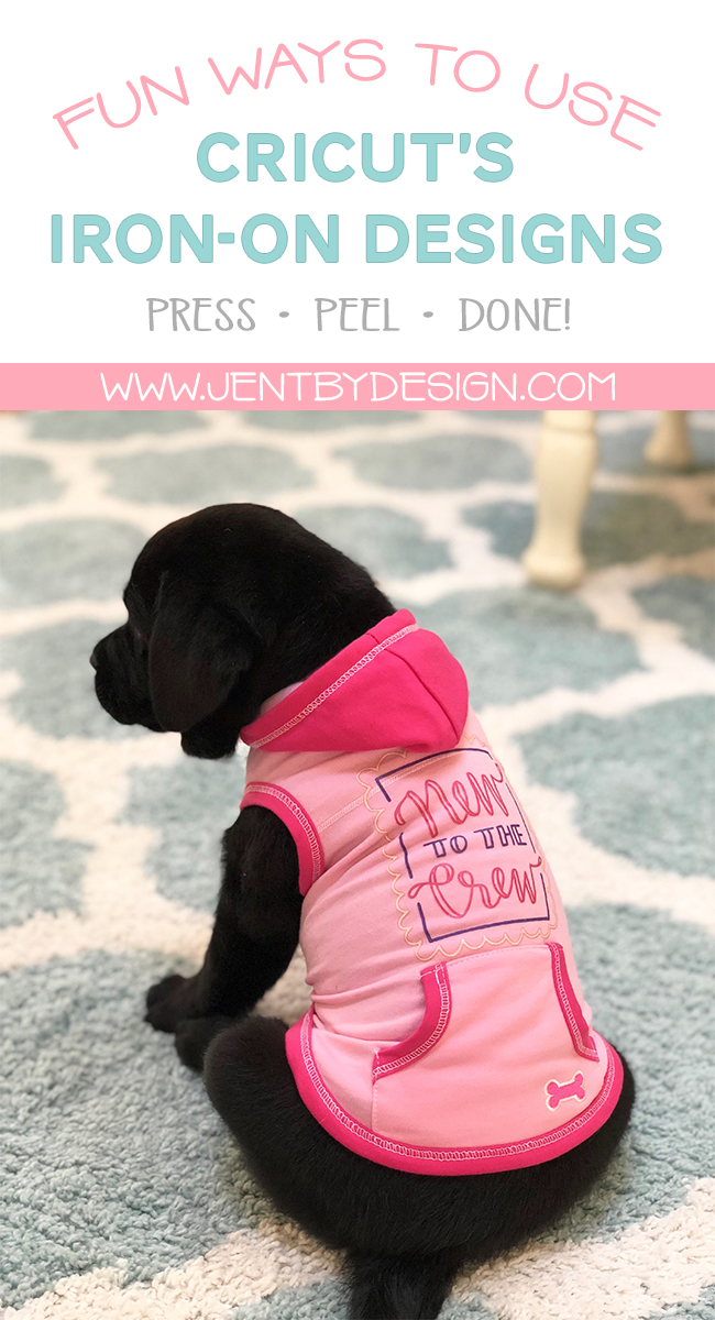 Cricut Iron-On Designs - DIY Dog Bandanna and Outfit - Jen T by Design   #ad #CricutIronOnDesigns #CricutMade #Cricut