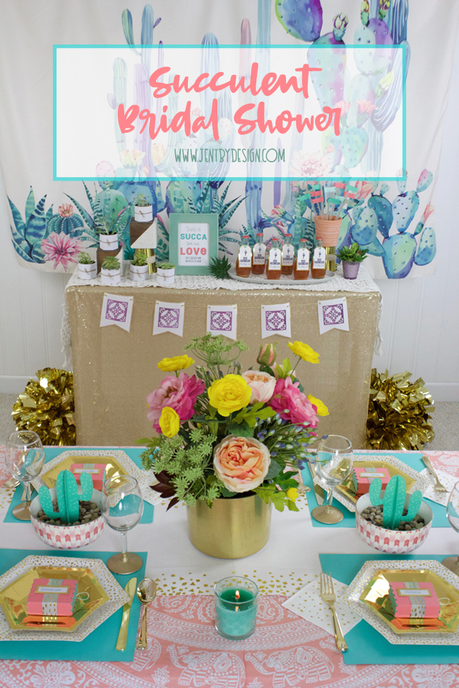Succulent bridal shower featuring cricut martha stewart and succulent bridal shower with cricut martha stewart and michaels jen t by design mightylinksfo